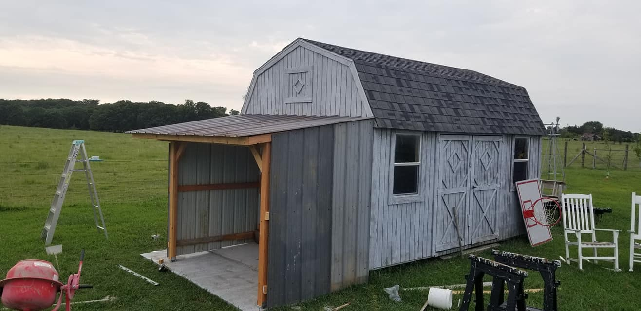 New lean-to shed