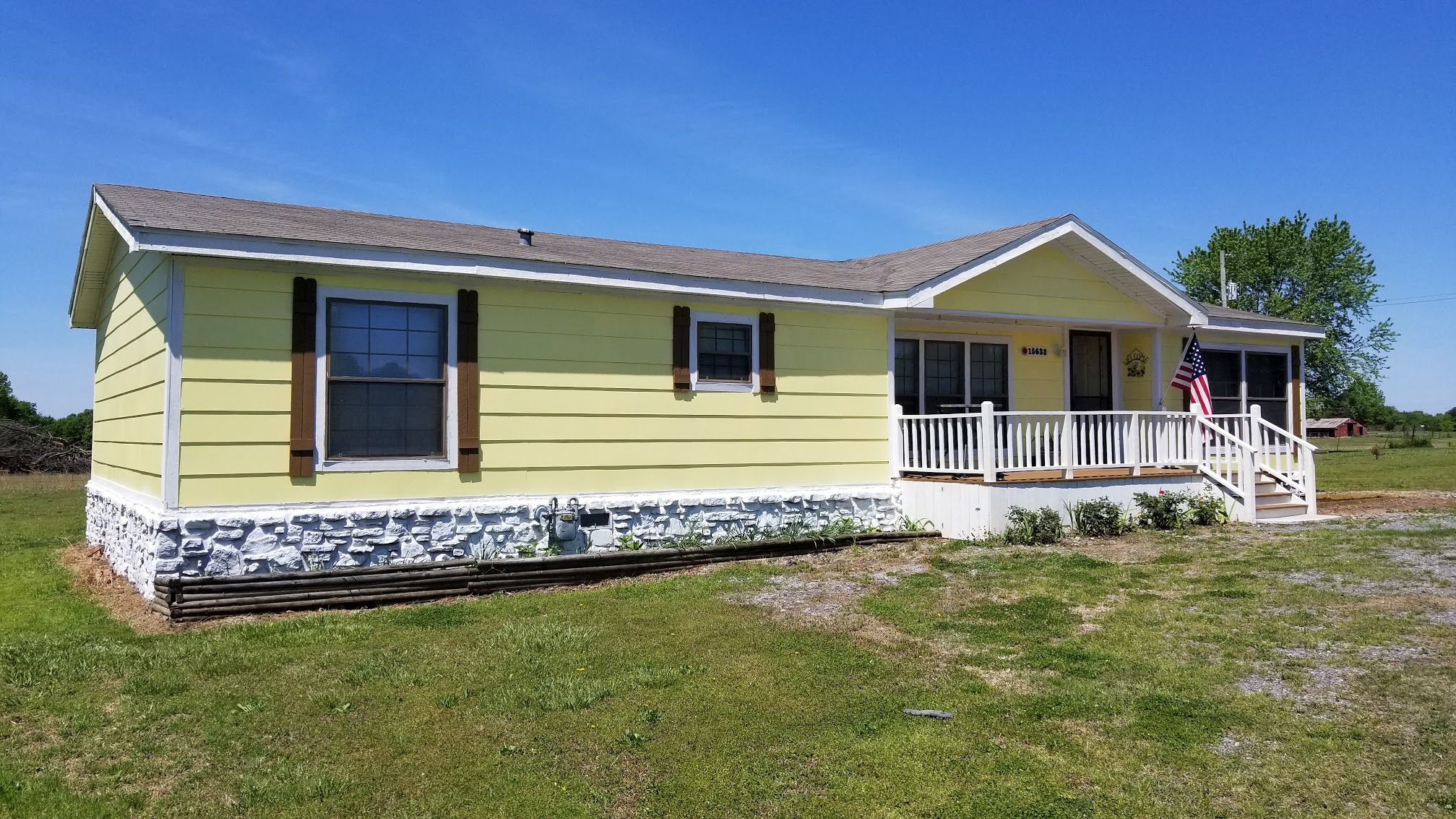 New yellow siding